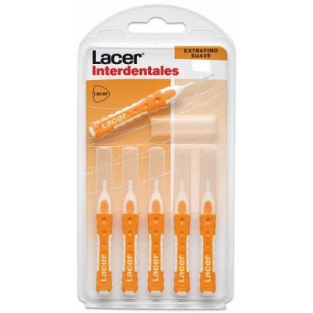Interdentales Lacer Extrafino suave recto 6 unidades