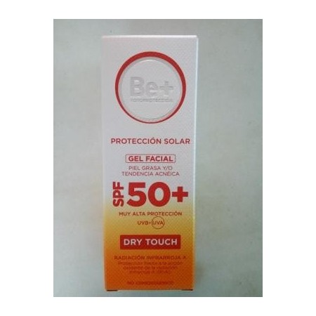 Be+ gel facial color pieles grasas SPF50+ 50 ml
