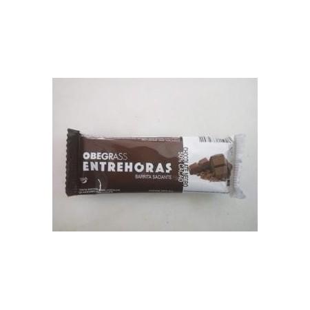 Barrita entrehoras de Obegrass chocolate negro