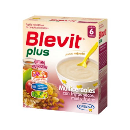 Blevit plus Multicereales con frutos secos, miel y frutas 600g