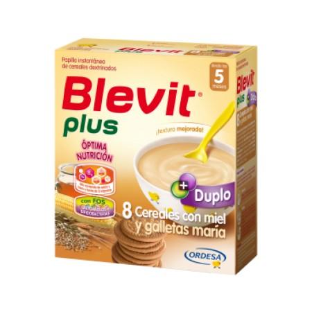 Blevit plus Duplo 8 Cereales con miel y galletas maría 600 g