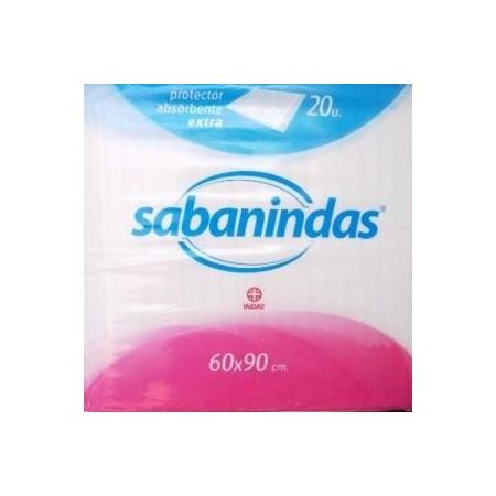 SABANINDAS Protector absorbente Maxi Extra 60x90 cm. 20 unid.