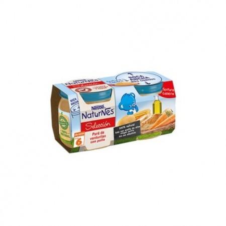 Nestlé Naturnes selección puré de verduritas con pollo 2x200 g