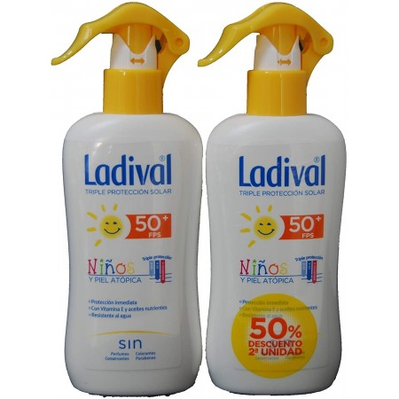 LADIVAL PACK NIÑOS LOCION SPRAY FPS50+ 200ML