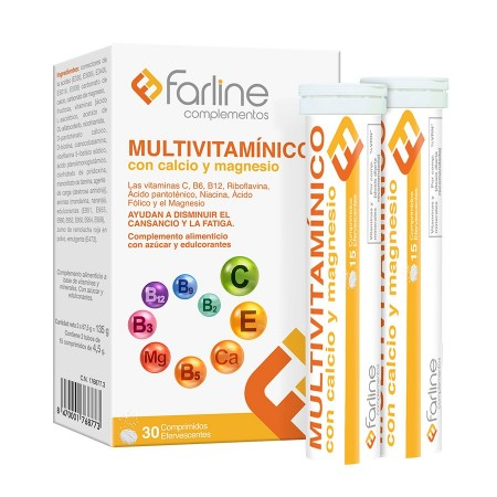 MULTIVITAMINICO FARLINE 30 COMPRIMIDOS EFERVESCENTES