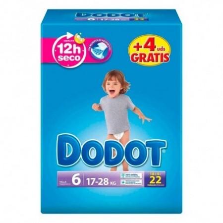 PAÑAL DODOT T- 6 +13 KG 30 UNID