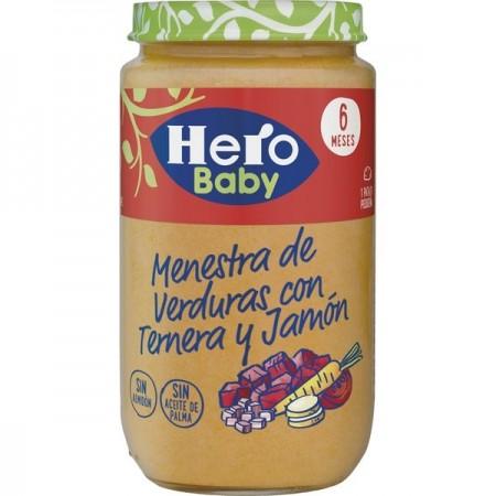 HERO BABY MENESTRA VERDURAS CON TERNERA Y JAMON 1 TARRO 235 G