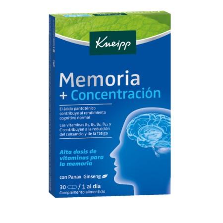 KNEIPP MEMORIA Y CONCENTRACION 30 COMPRIMIDOS