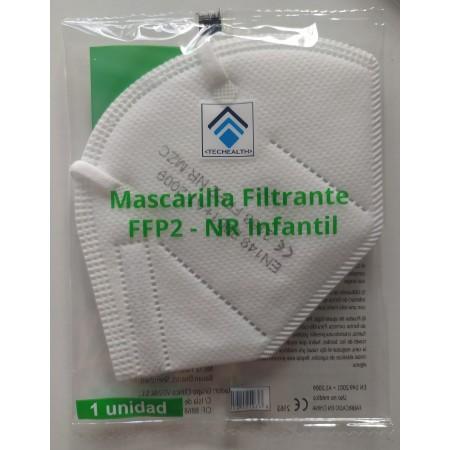 MASCARILLA INFANTIL FFP2 BLANCA 1 UNIDAD TECHEALTH