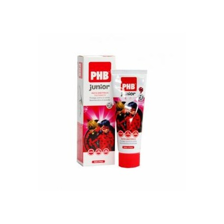 Pasta PHB® Junior Ladybug sabor fresa 75 ml
