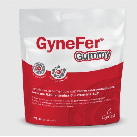 GYNEFER GUMMY 30 GOMAS MASTICABLES SABOR FRAMBUESA