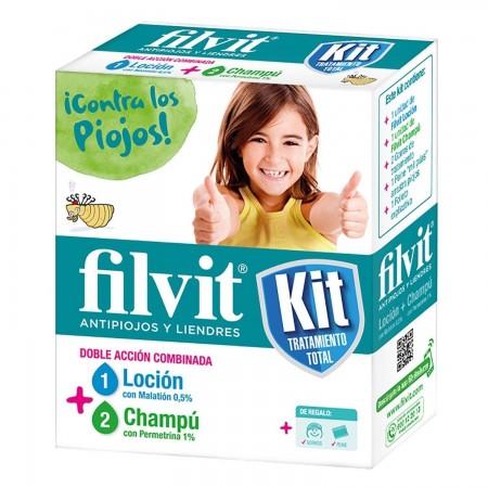 FILVIT KIT: LOCION + CHAMPU ANTIPIOJOS 100 ML + 1 LENDRERA