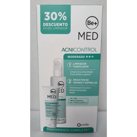 BE+ MED ACNICONTROL PACK  ACNE MODERADO GEL LIMPIADOR 200+ EMULSIÓN 50ML