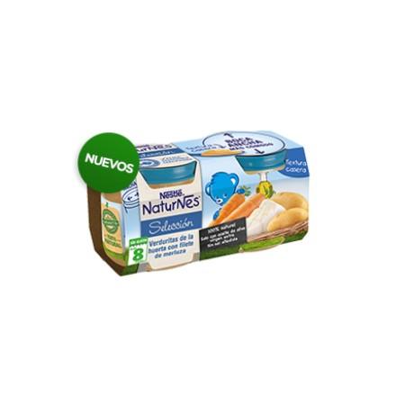 Nestlé Naturnes Selección verduritas de la huerta con merluza 2x200 g.